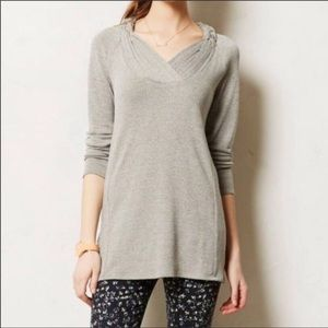 Anthro One September Brynn tunic top sweater